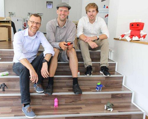 TinkerToys-Gründer Dr. Marko Jakob, Sebastian Friedrich, Sebastian Schröder