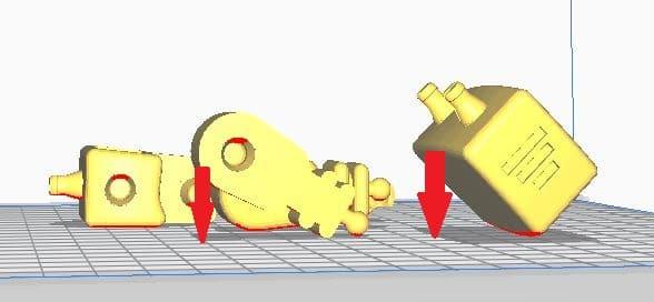 So funktioniert TinkerSchool für Ultimaker 3D Drucker in der Schule - Schritt 5 - Platzieren Sie die Objekte auf dem Druckbett